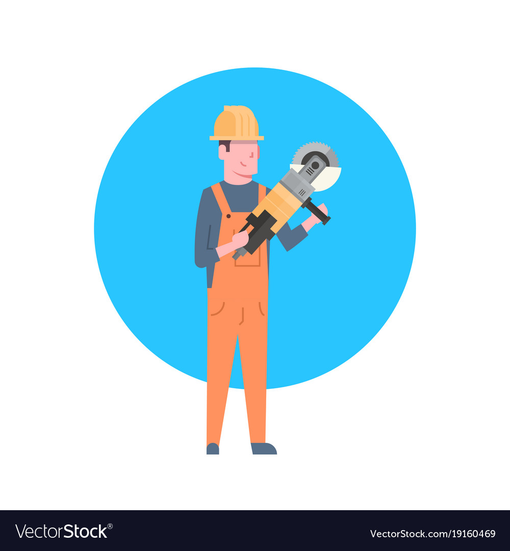 Construction worker icon builder man wearing
