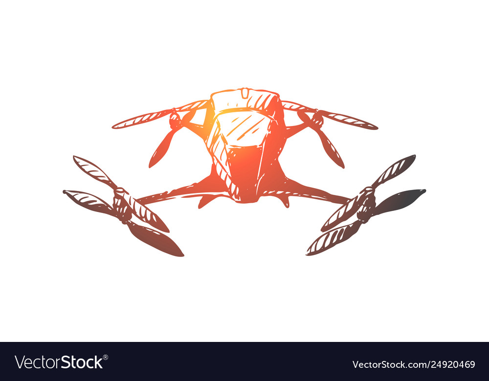 Drone equipment air fly technology concept