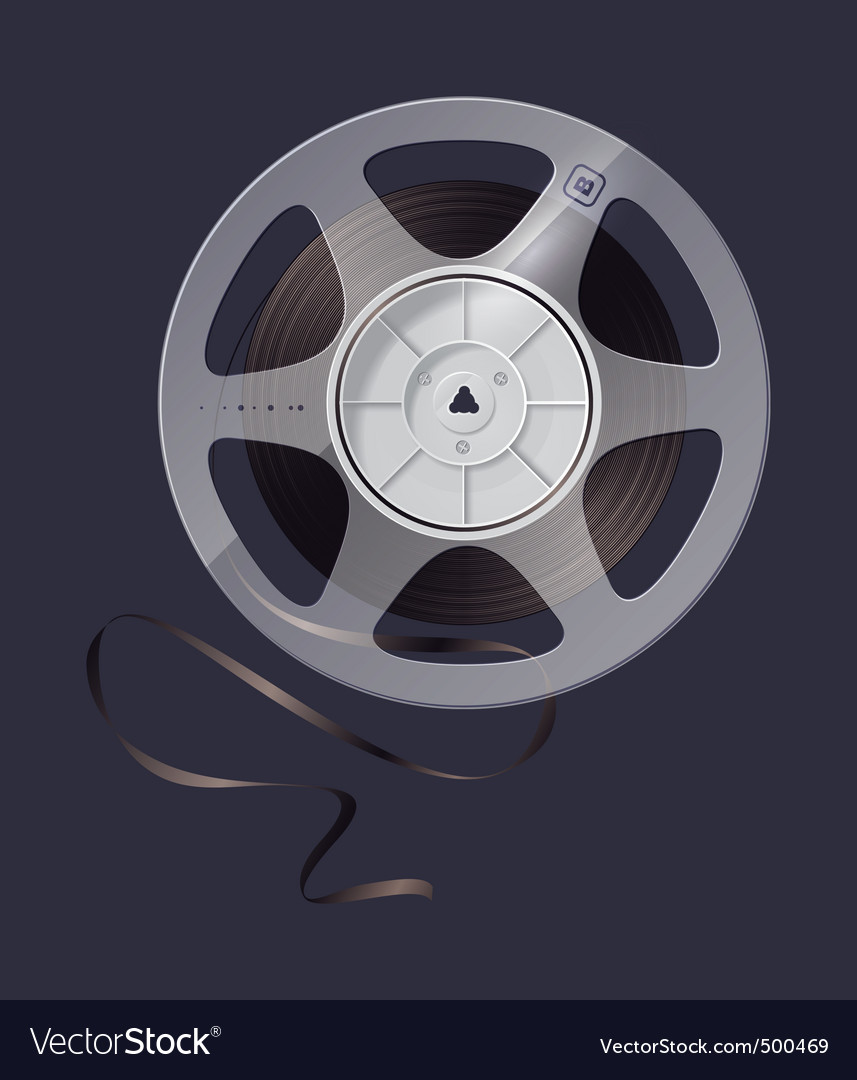 Magnetic tape vector image
