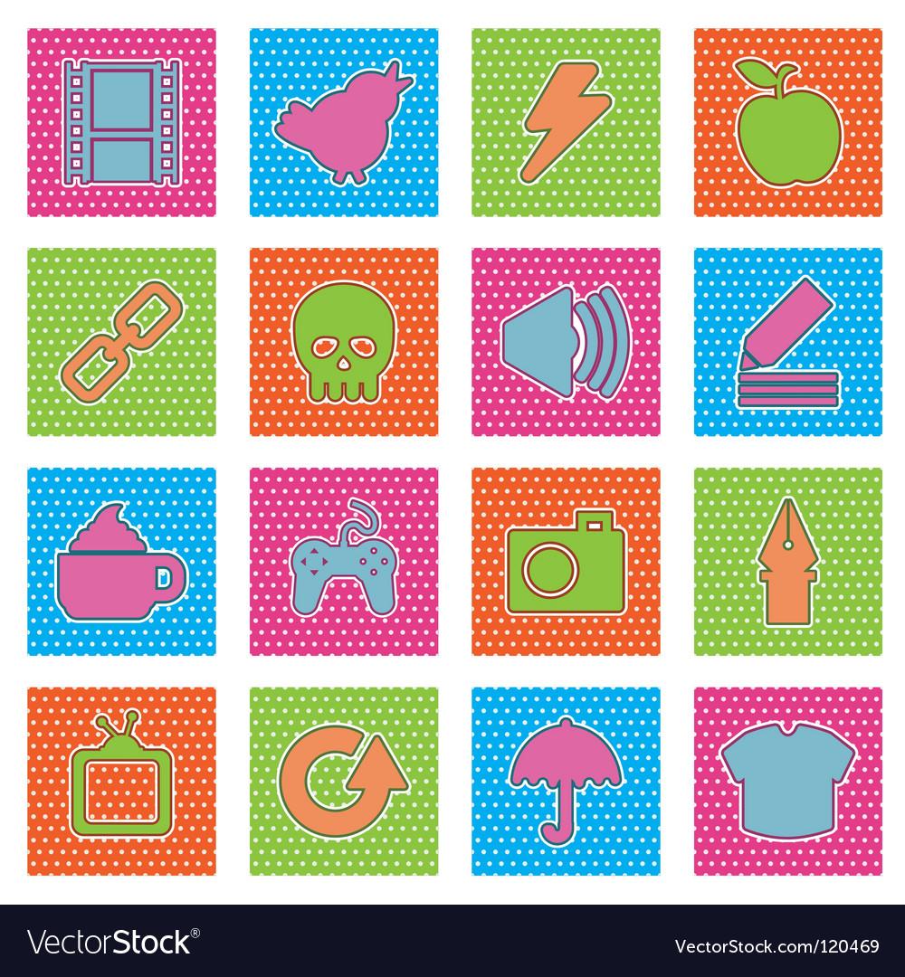 Polka dot icons