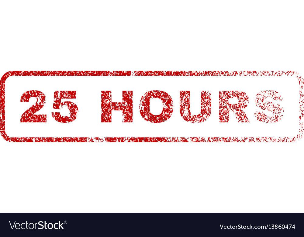25 hours rubber stamp