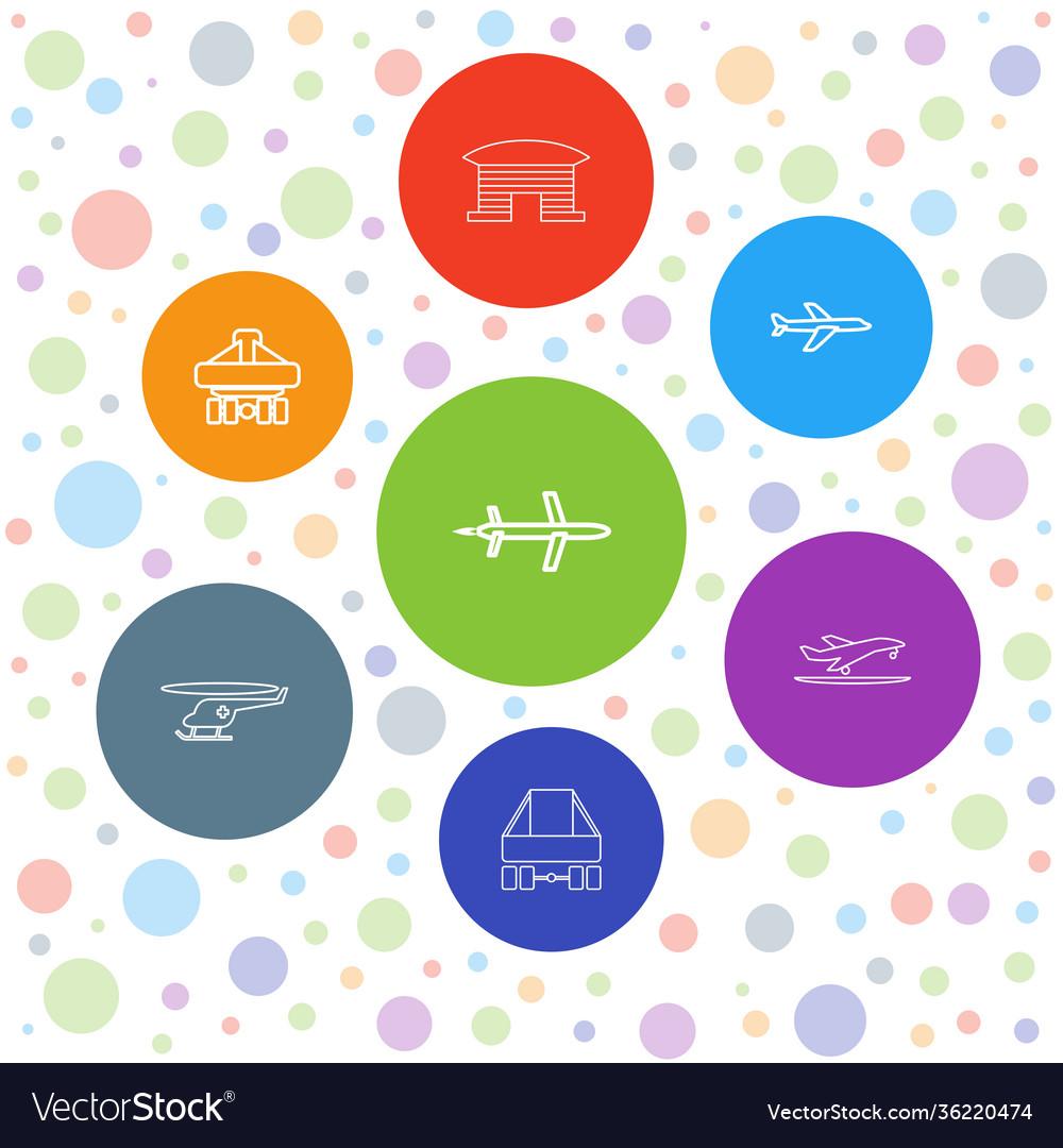 7 jet icons