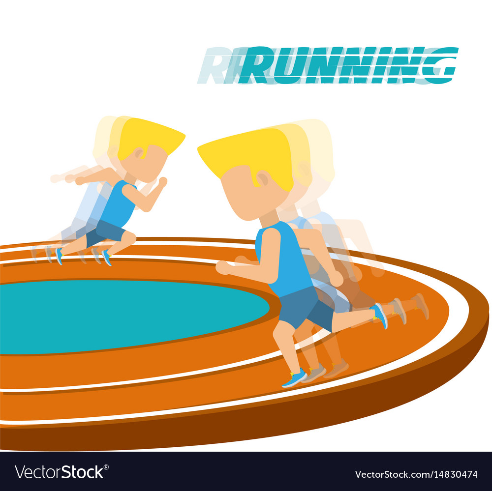 Athletes running in competition championship