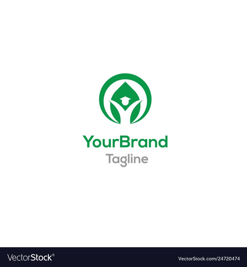 Green people logo template