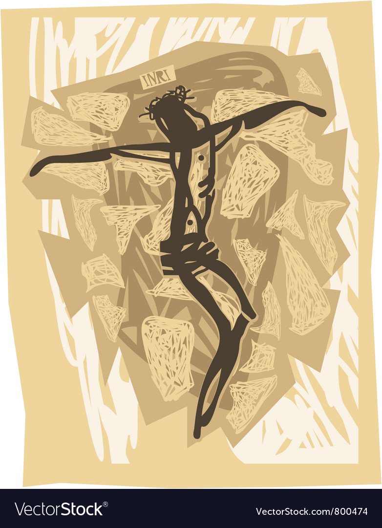 Jesus crucified vector image