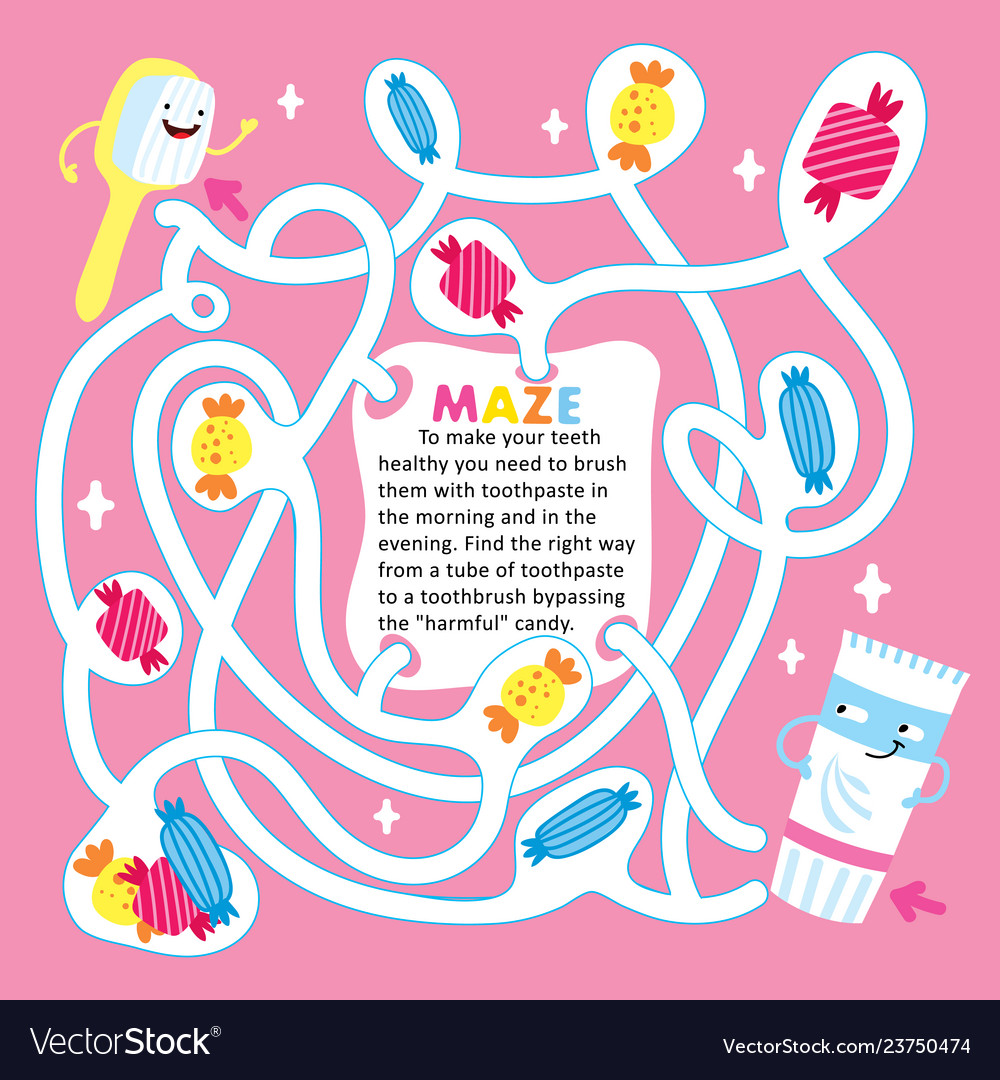 picture relating to Printable Kids Game called Young children maze recreation puzzle sweet printable template