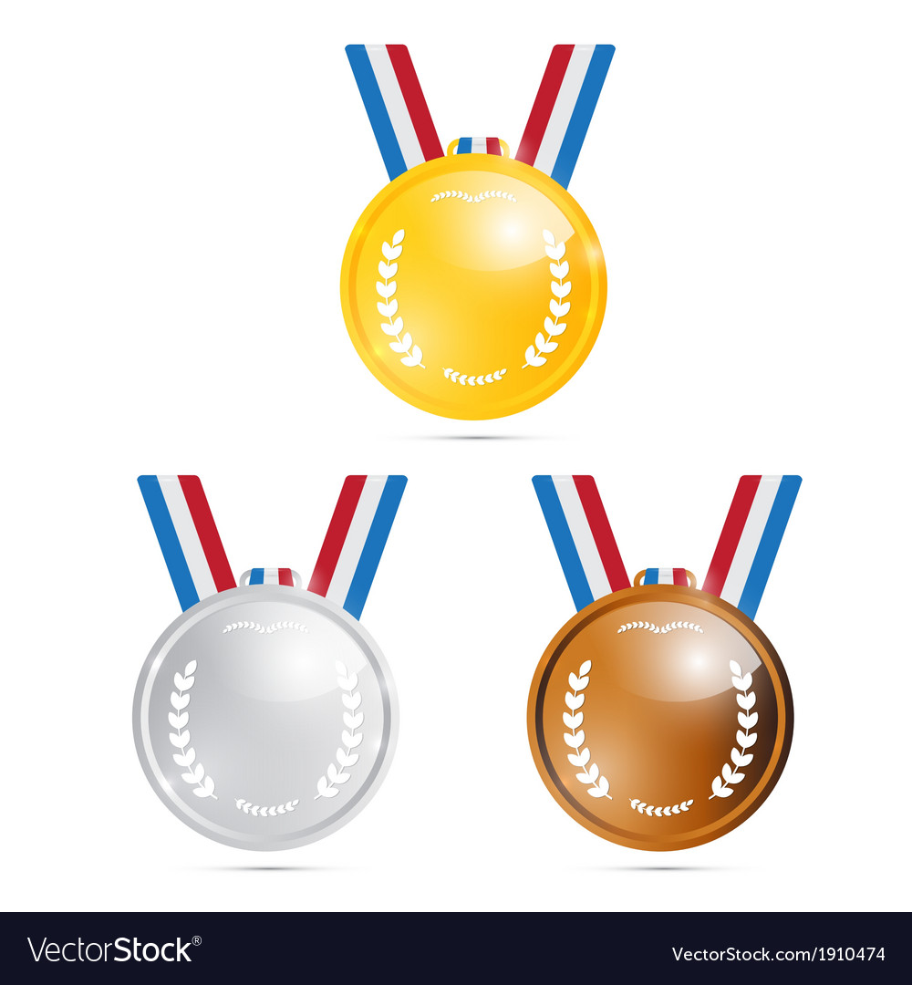 Medals Gold Silver Bronze First Second Third