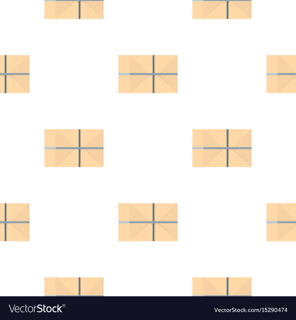 Parcel wrapped in paper pattern vector image