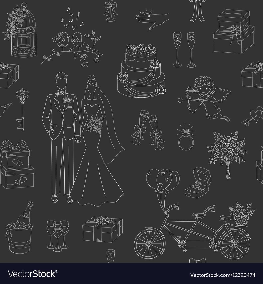 Wedding seamless background