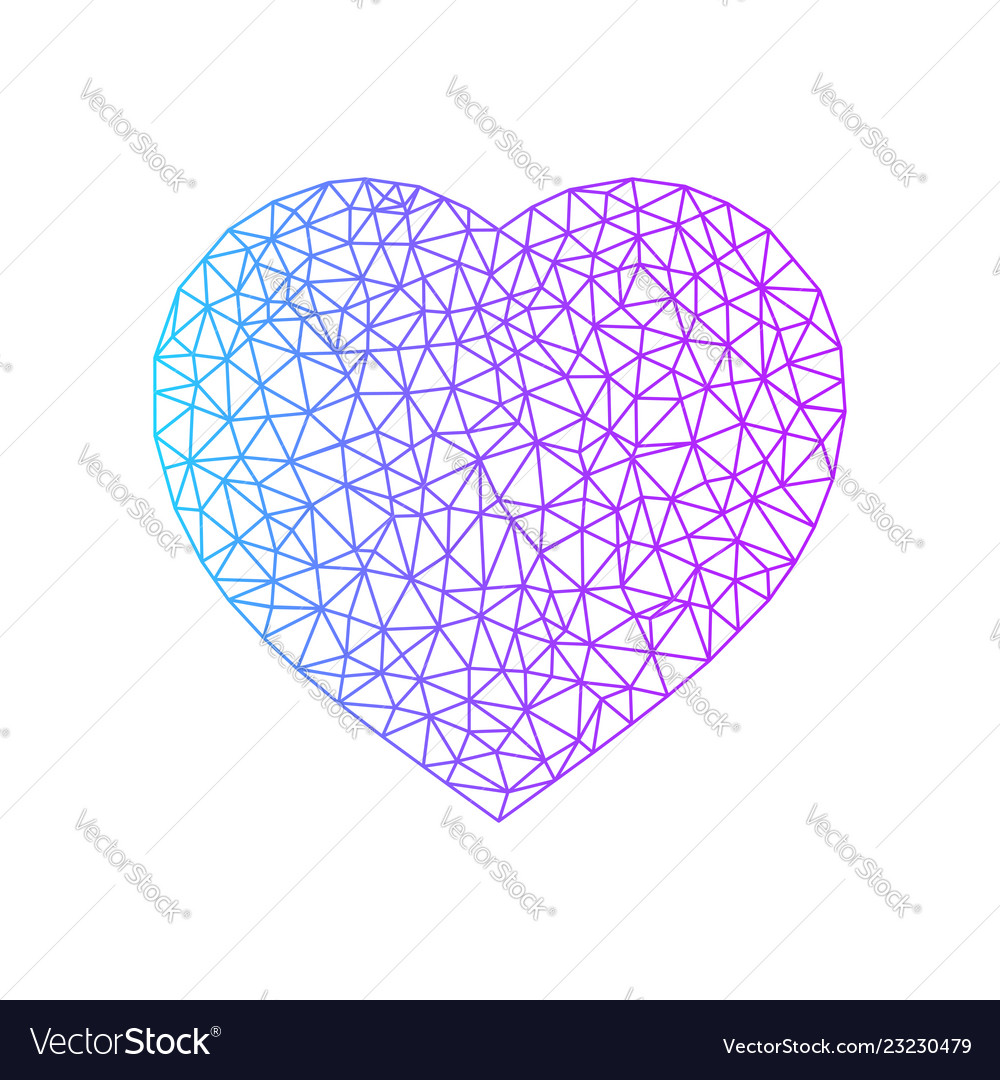 Abstract heart symbol blue and purple color heart
