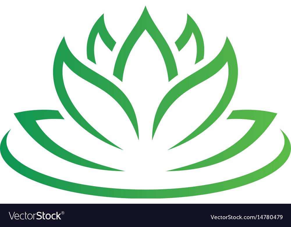 Beauty lotus flowers logo image vector image
