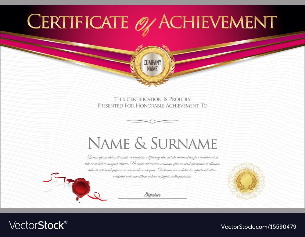 Certificate or diploma retro design collection
