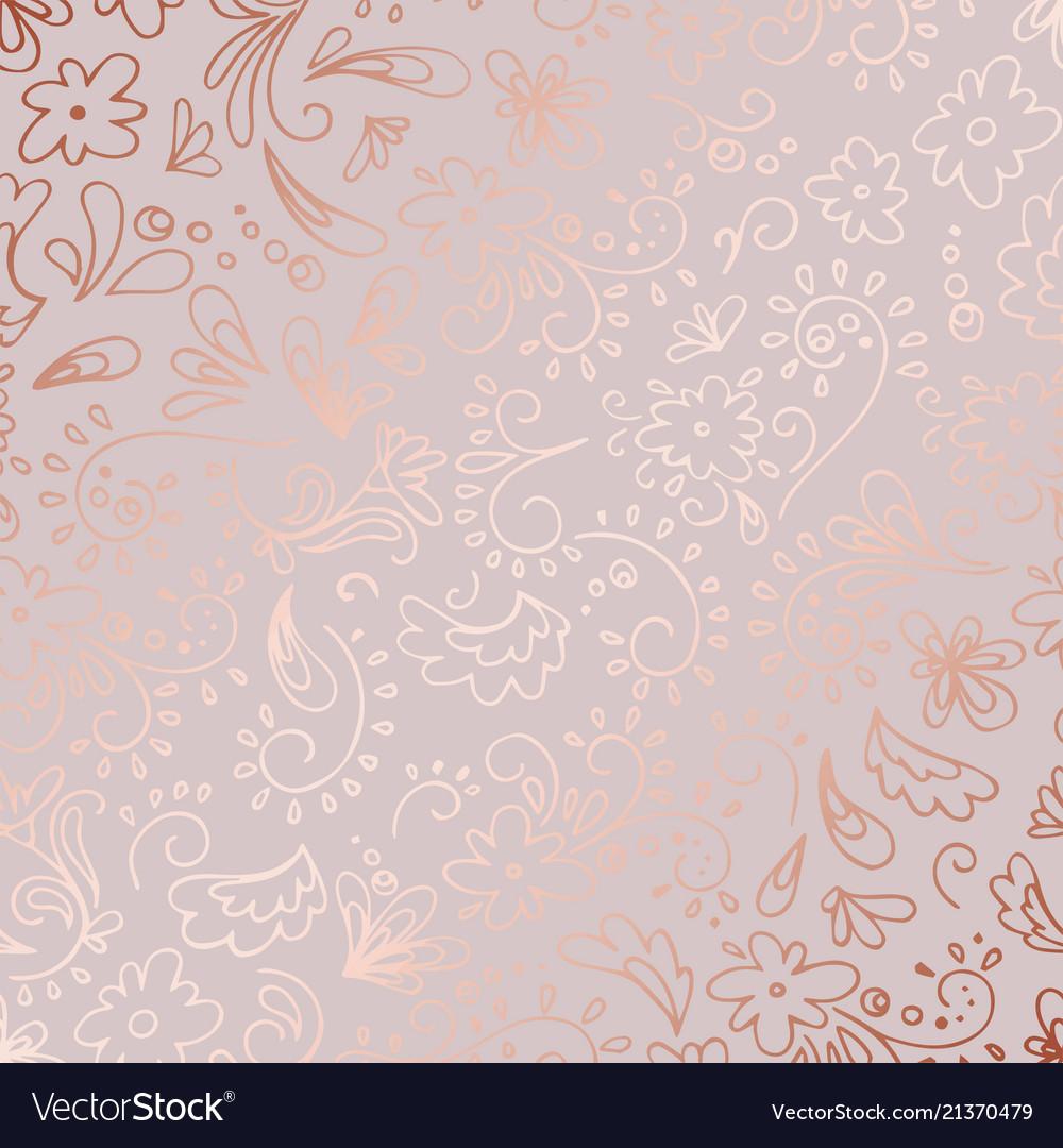 Decorative pattern with rose gold imitation