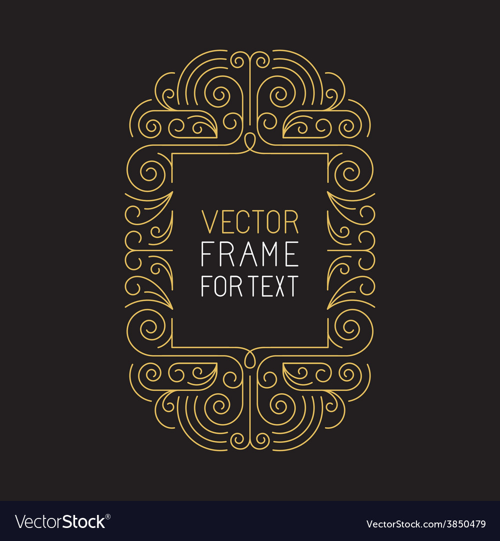 Geometric frame with copy space