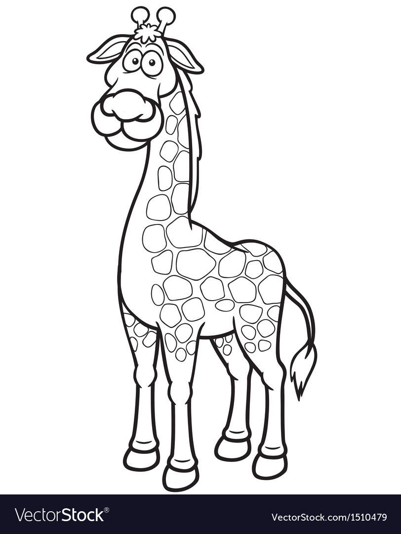 Giraffe outline