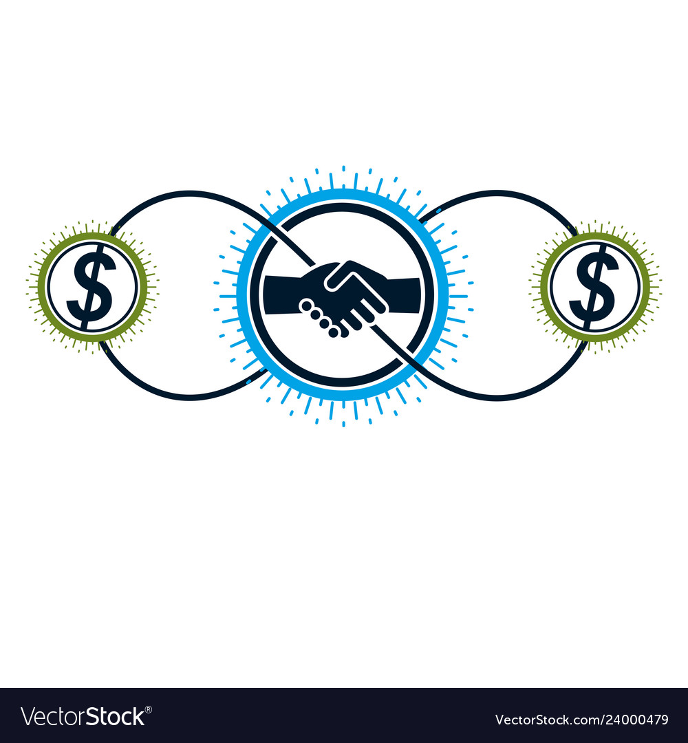 Successful business creative logo handshake