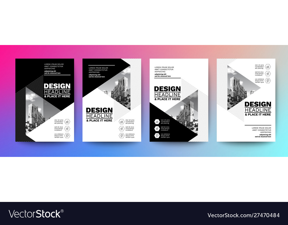 Black and white design template for poster flyer