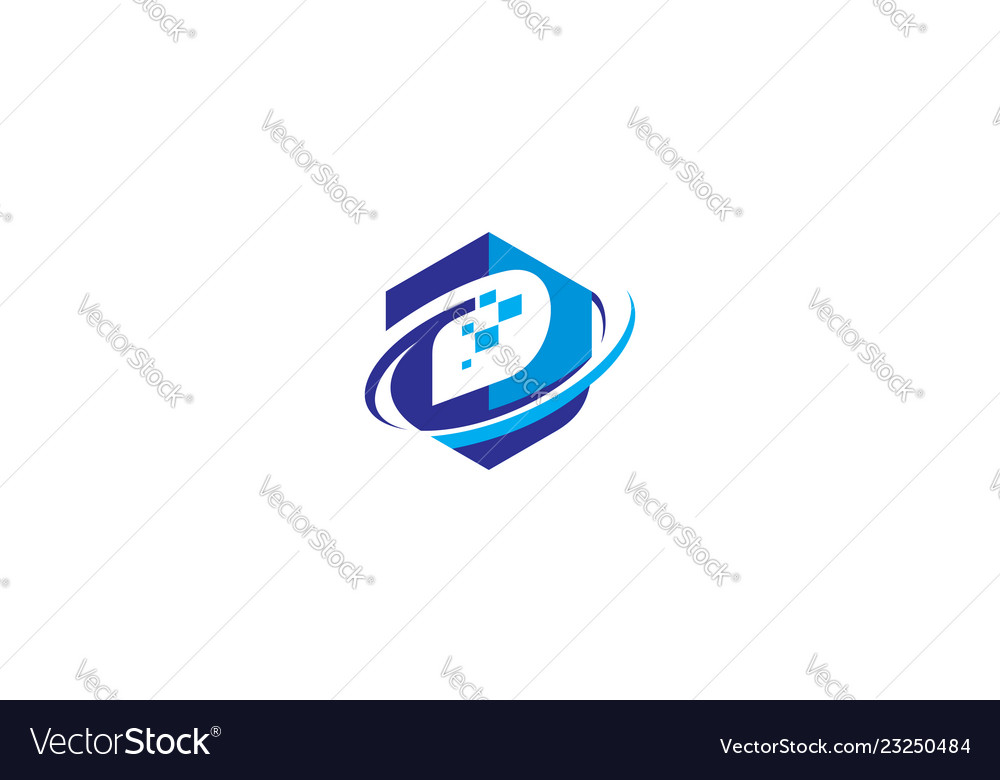 Initial d digital logo icon