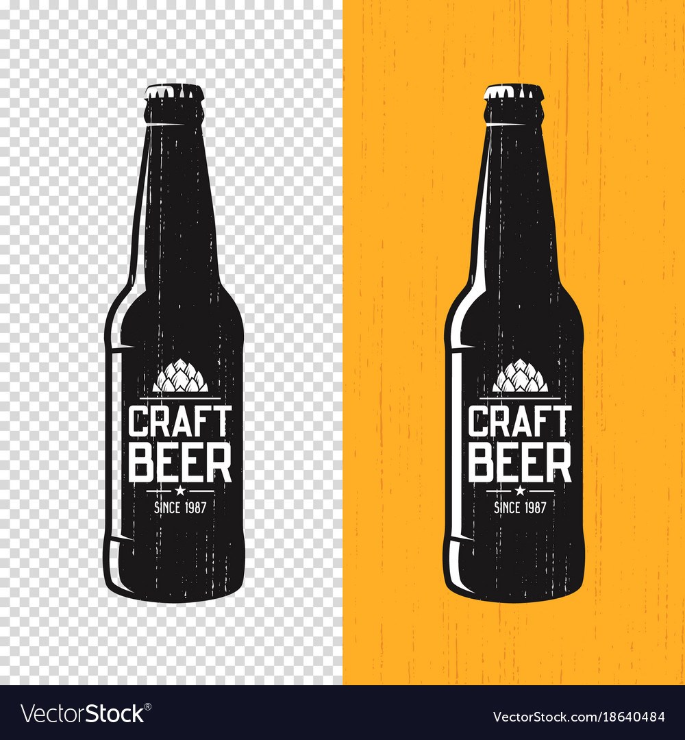 Textured craft beer bottle label design