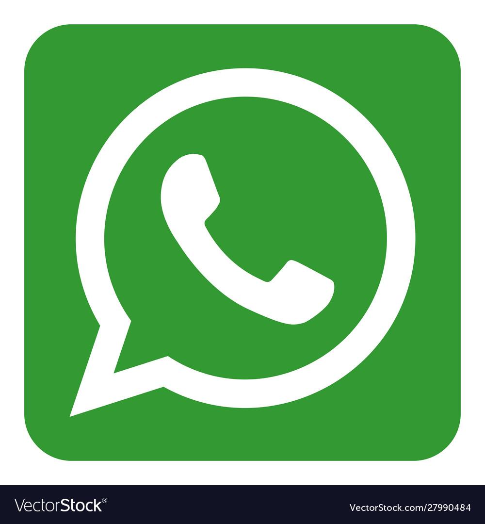 Whatsapp Logo Icon Royalty Free Vector Image Vectorstock