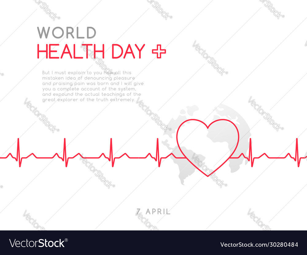 World health day 7 april concept medicine and