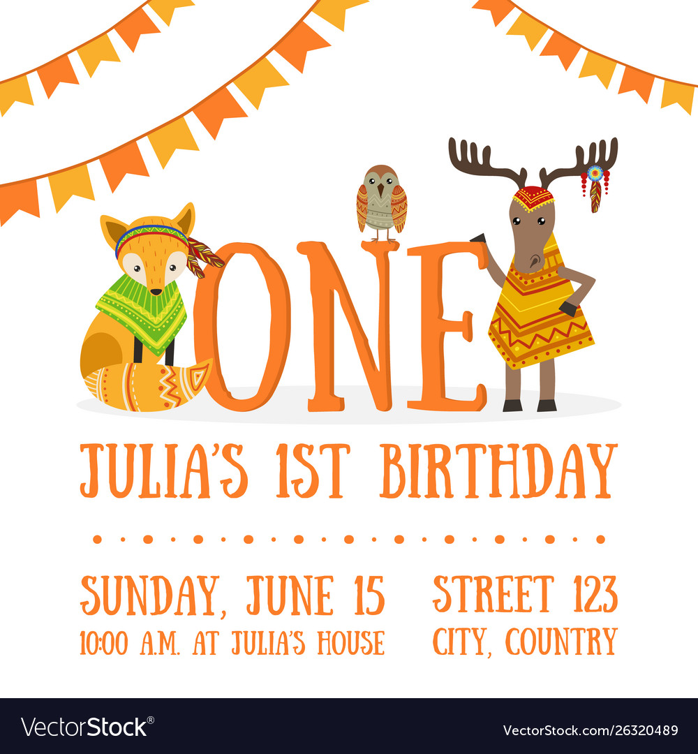Birthday Invitation Card Template Celebration