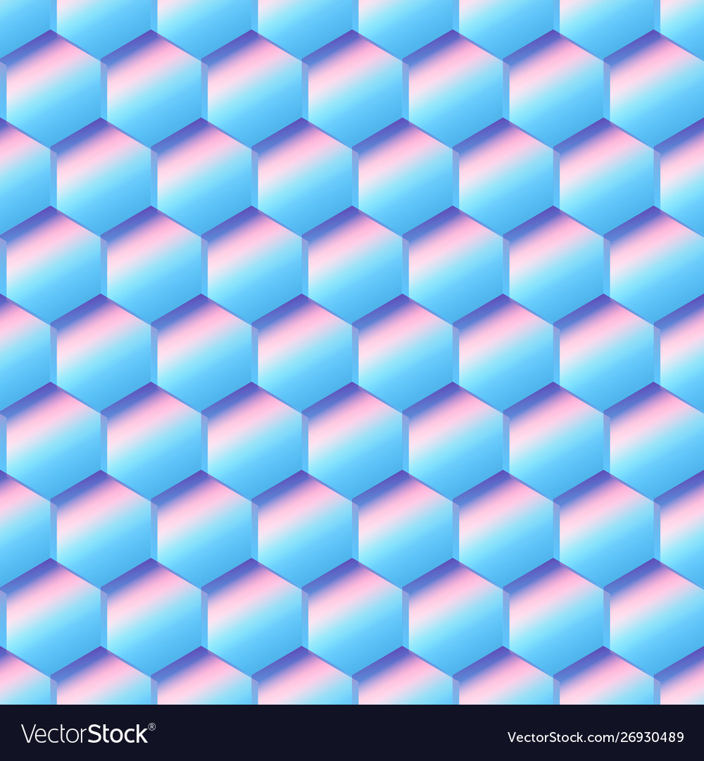 Blue cell seamless pattern