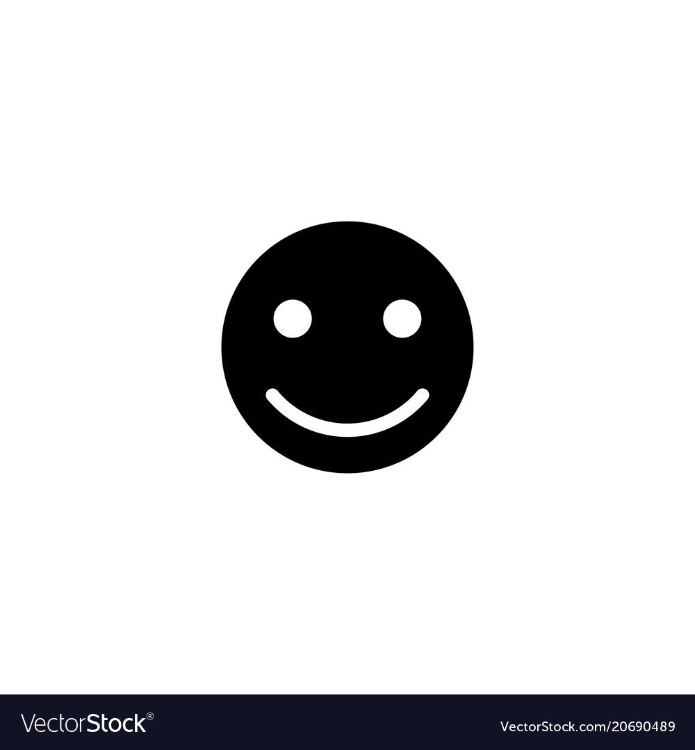 Happy smile face flat icon
