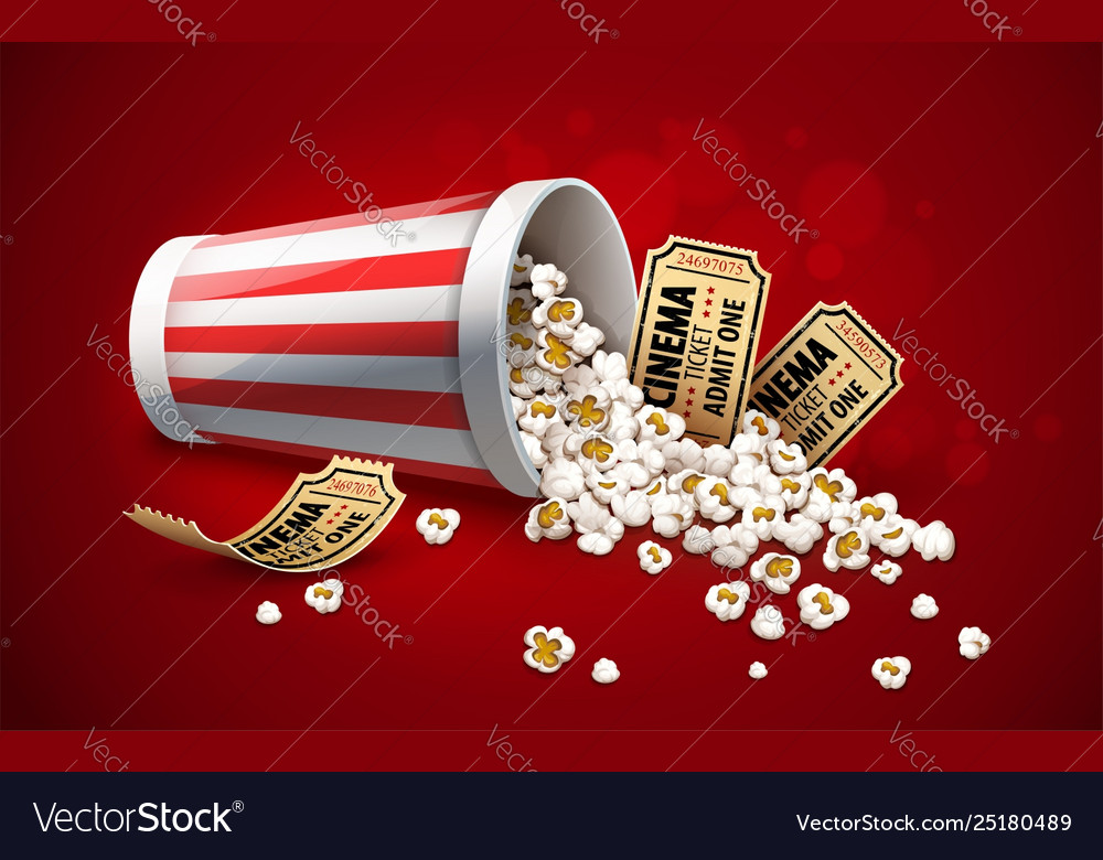 Popcorn in paper bucket full