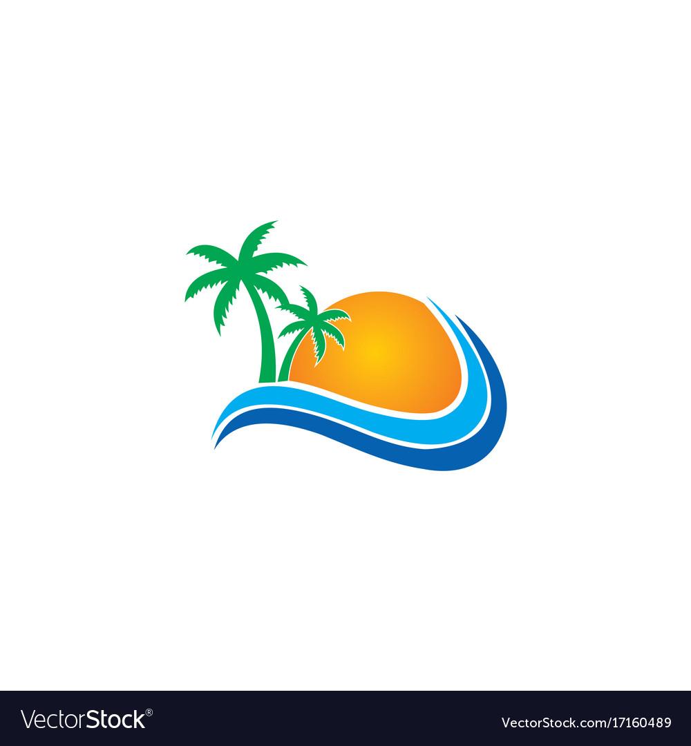 Tropic beach sun logo