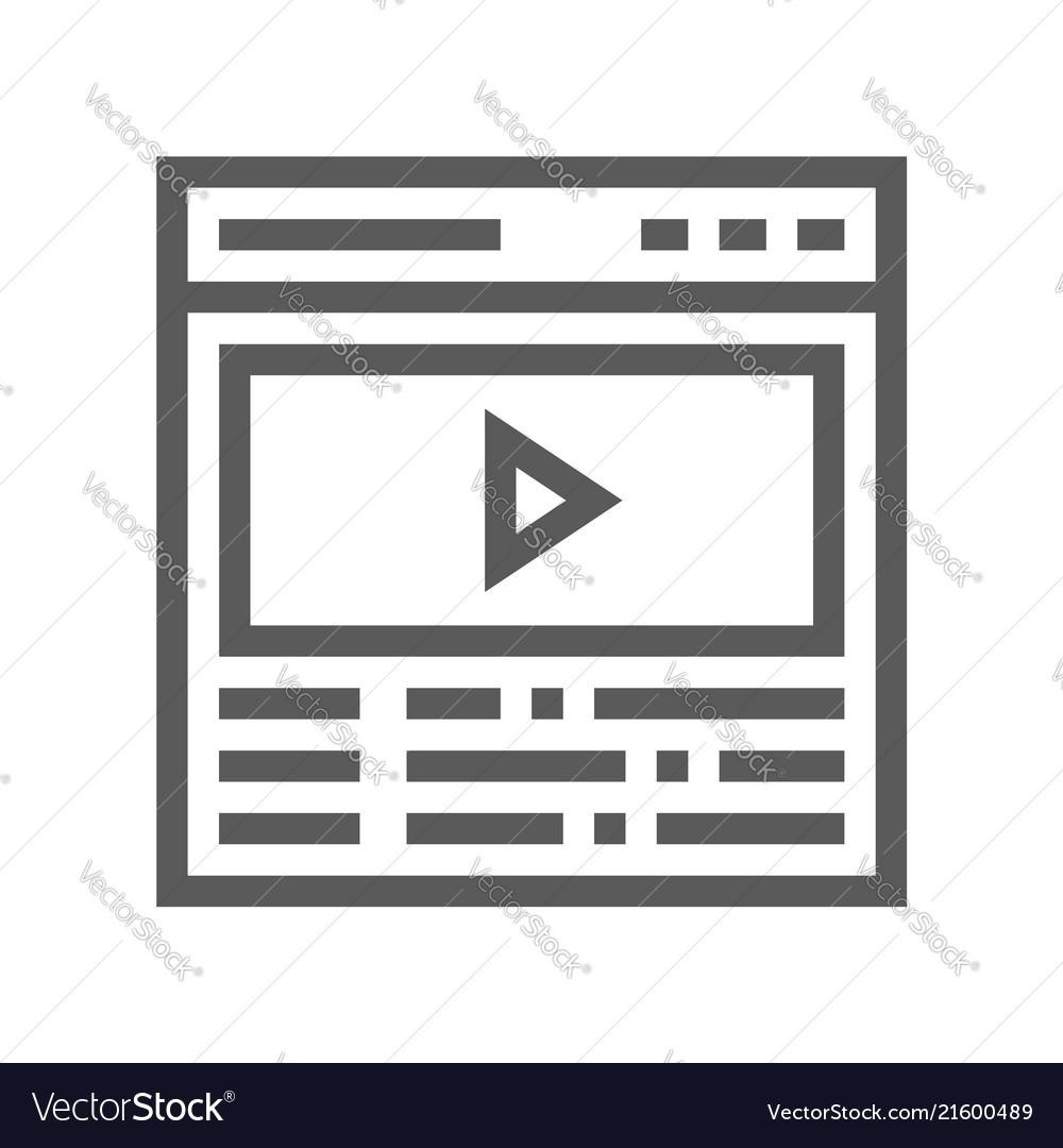 Video studio production line icon