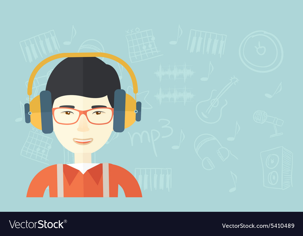 Young Guy With Headphone