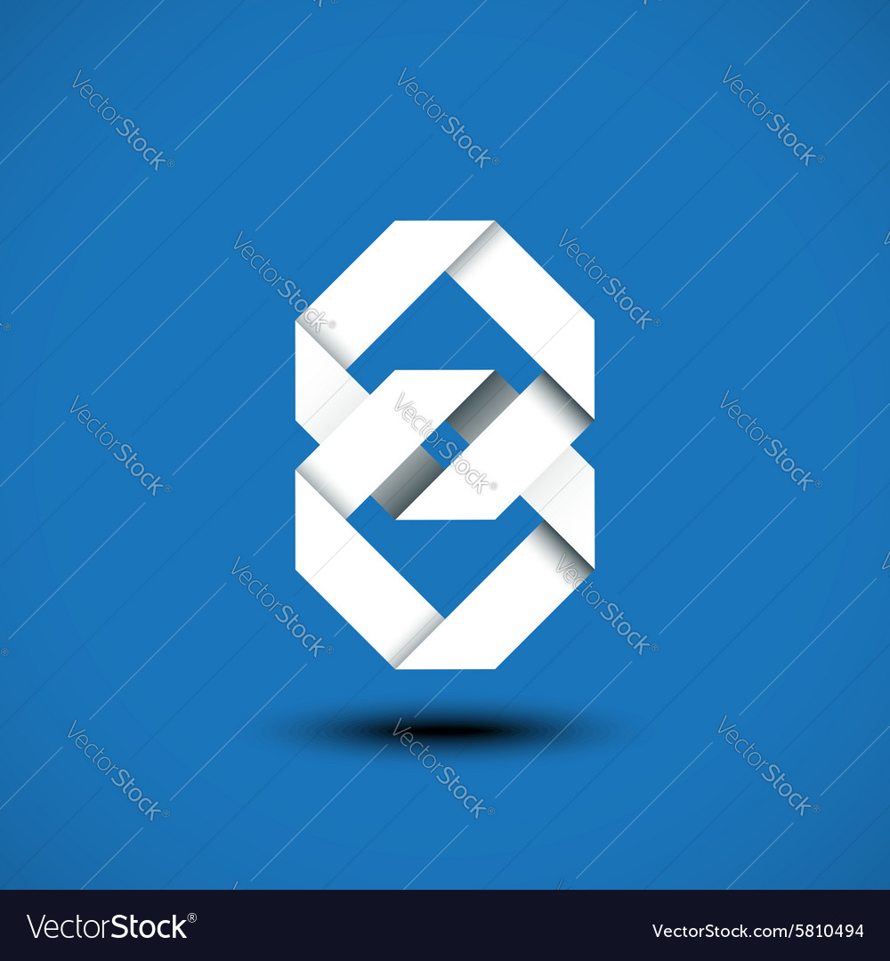 Abstract unity symbol of two square