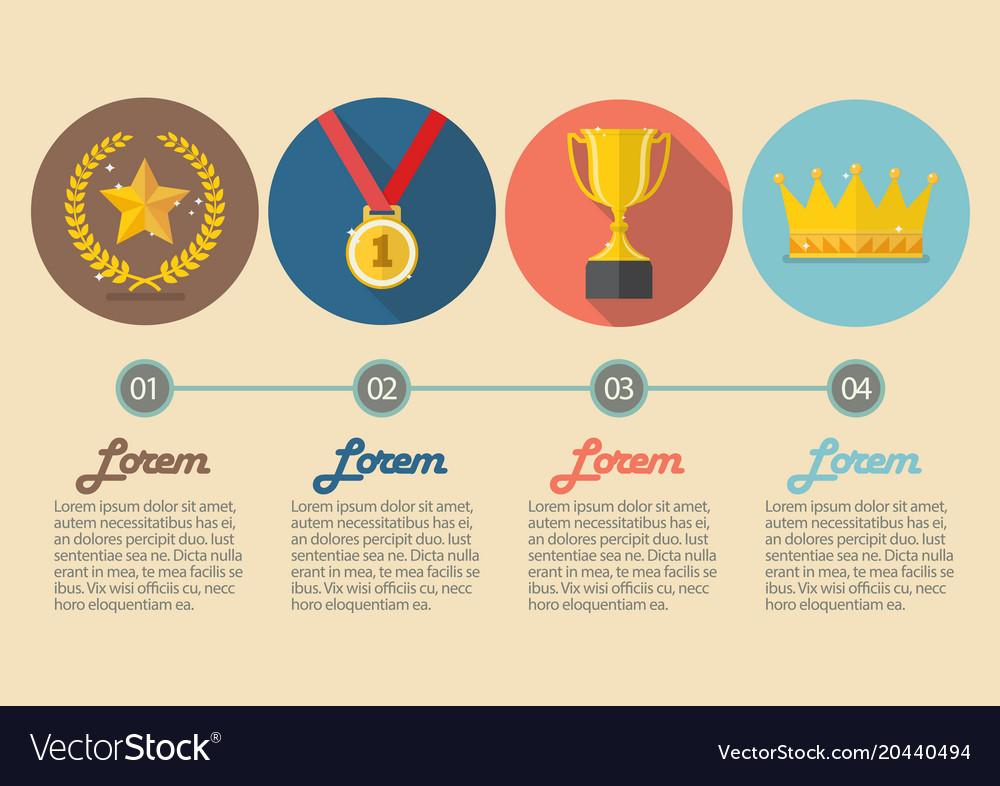 Achievements icon concept infographic