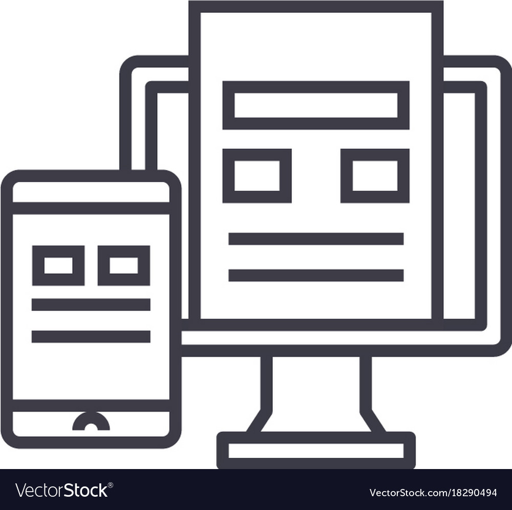 Adaptive interface concept thin line icon vector image