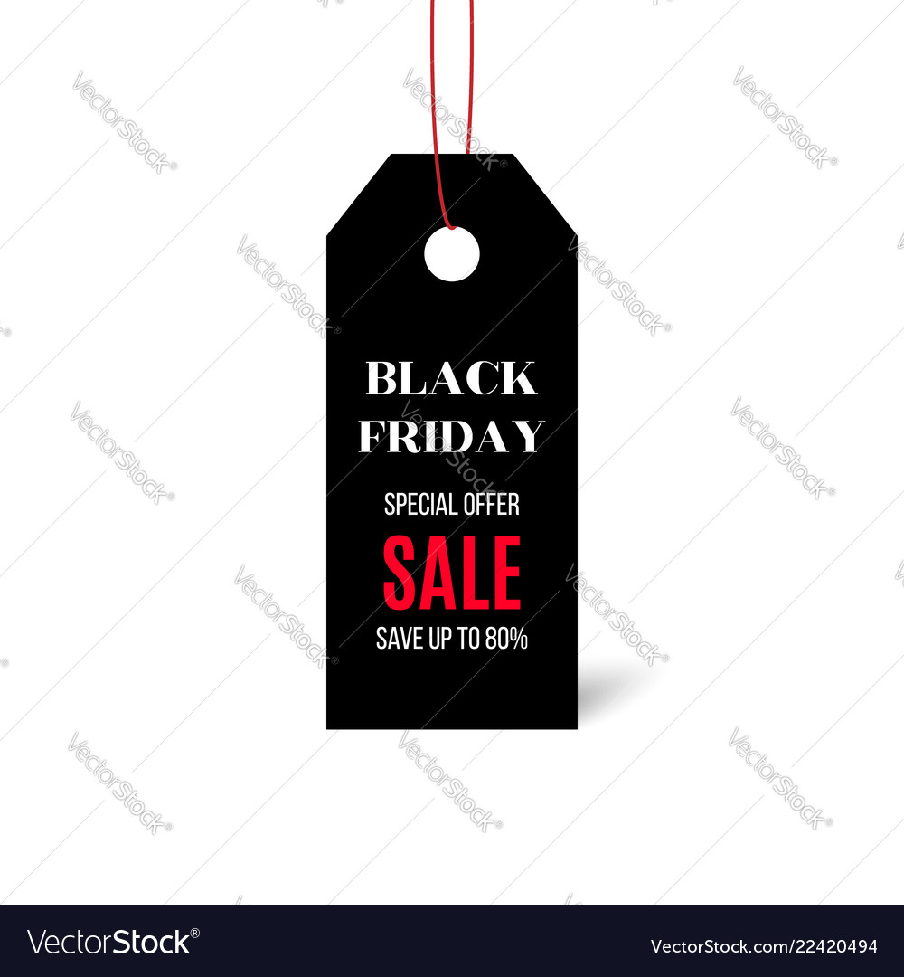 Black friday price sticker isolated on white