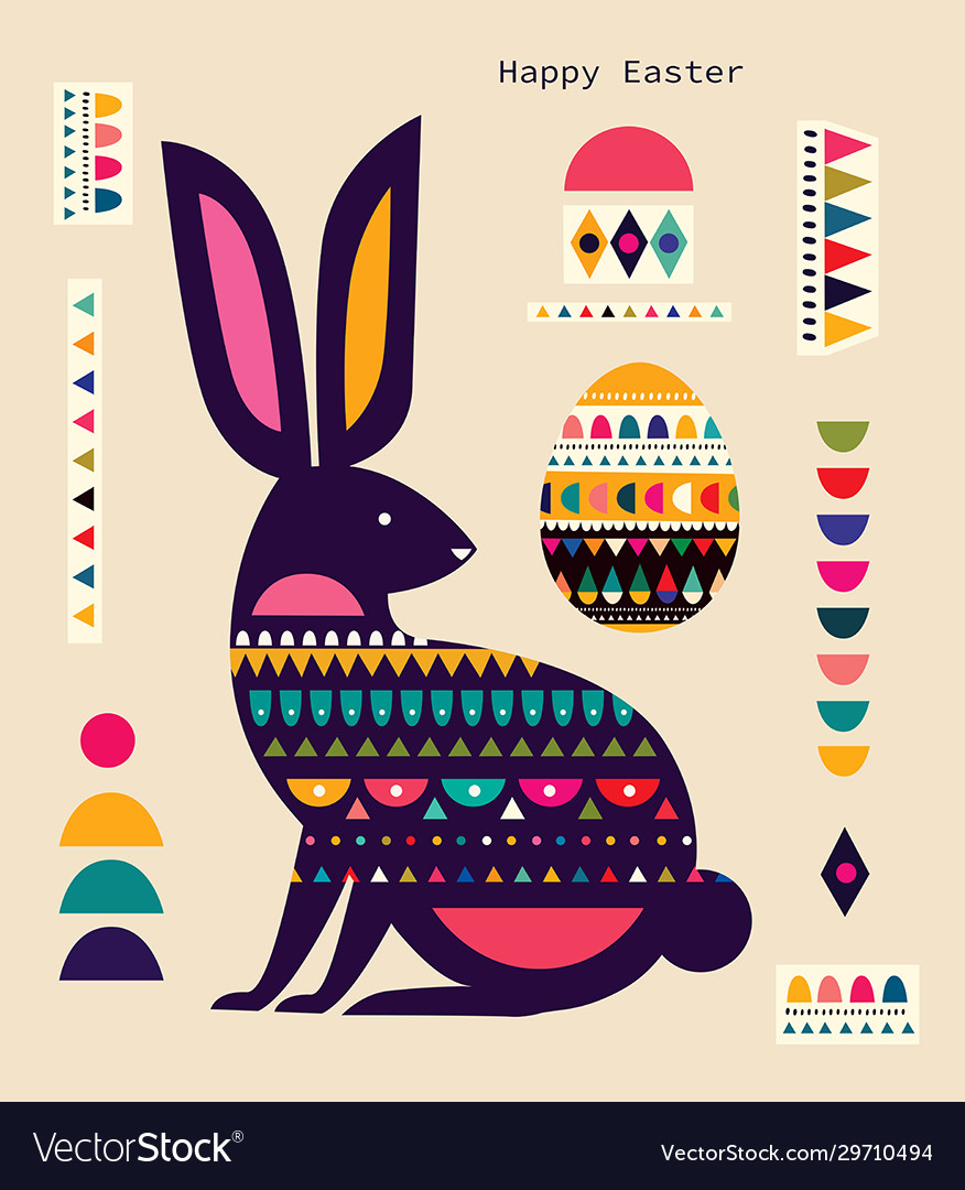 Bunny easter vector
