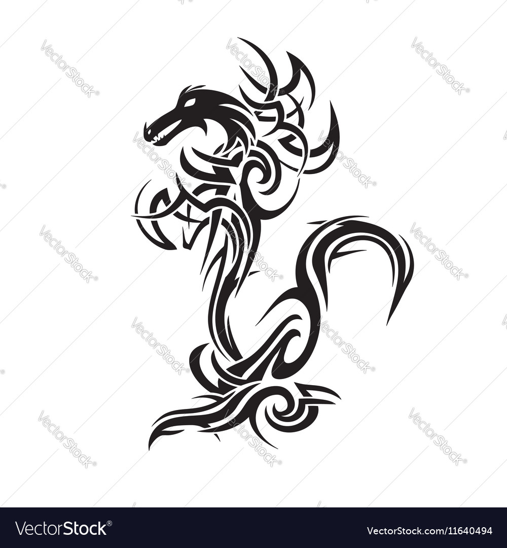 Dragon Tattoo Art Royalty Free Vector Image Vectorstock