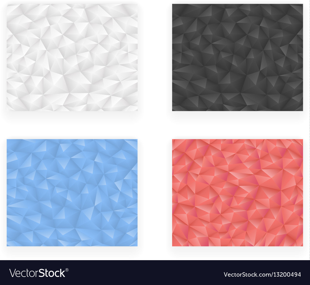 Low polygonal geometric design template abstract vector image