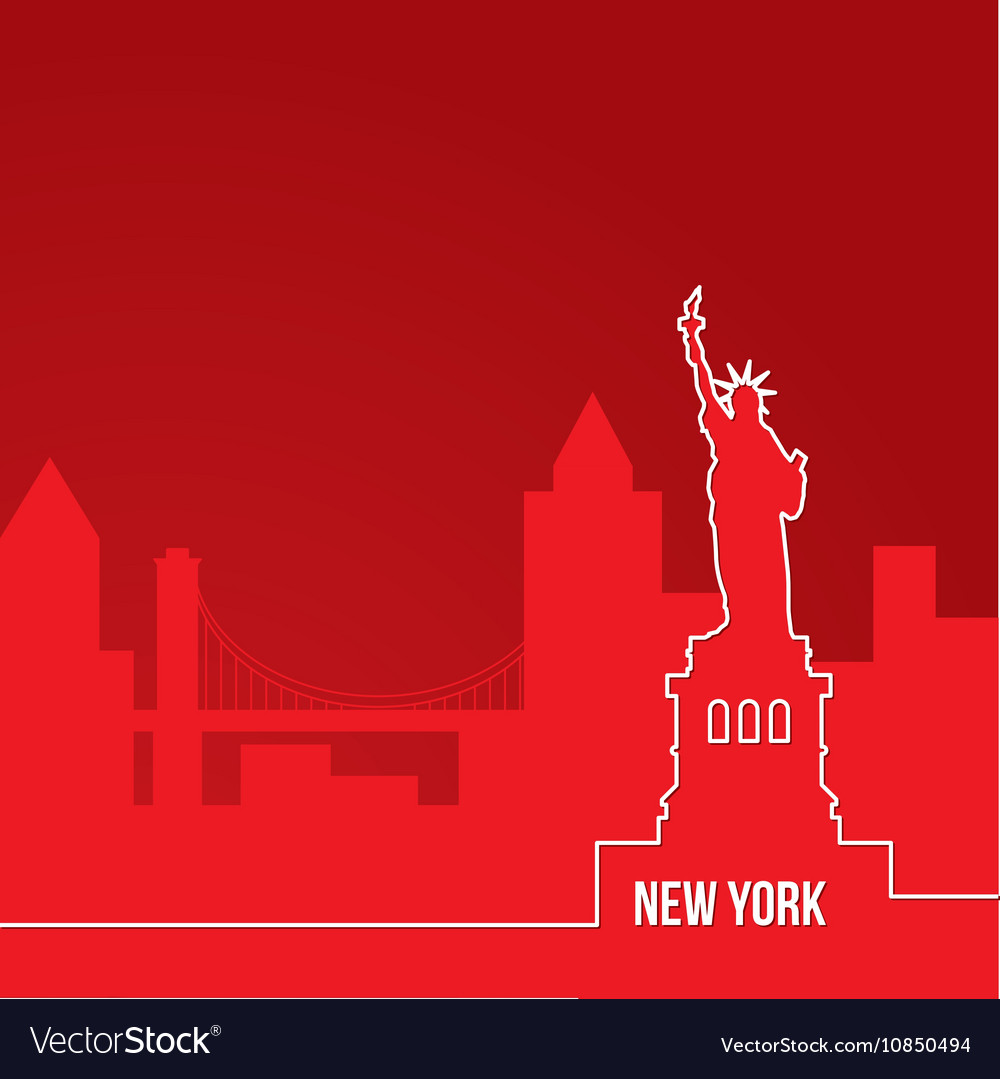 New York USA Concept for web banner One line
