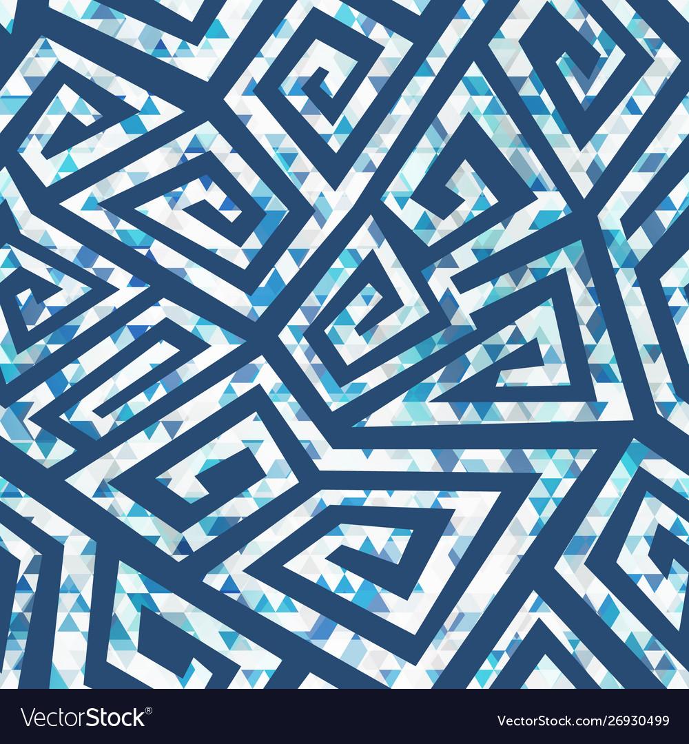 Blue spiral geometric pattern