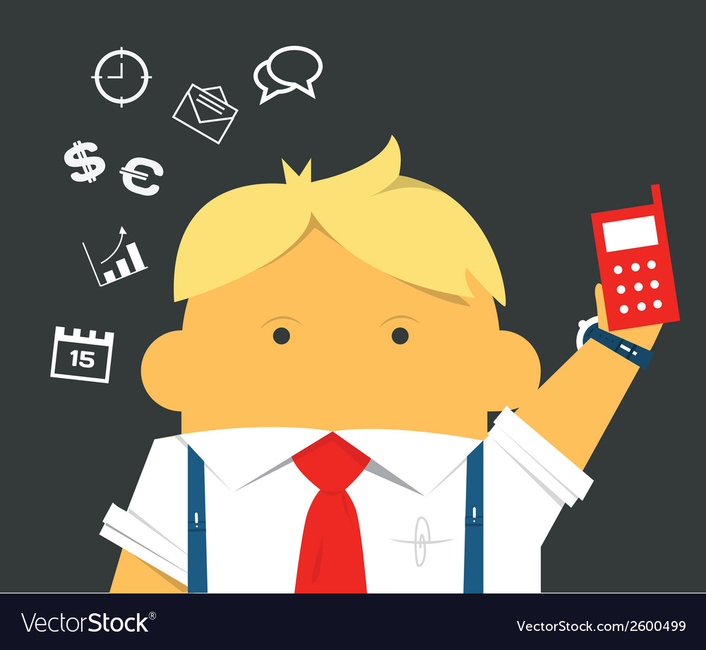 Businessman with a phone hardworking and busy
