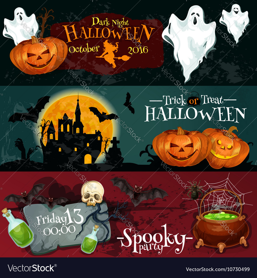 Design for Halloween signboards and posters
