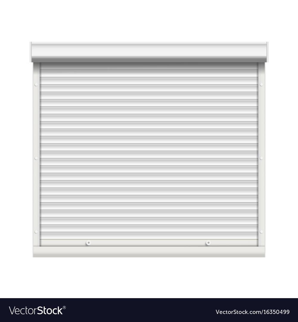 Realistic Window Roller Shutters Front