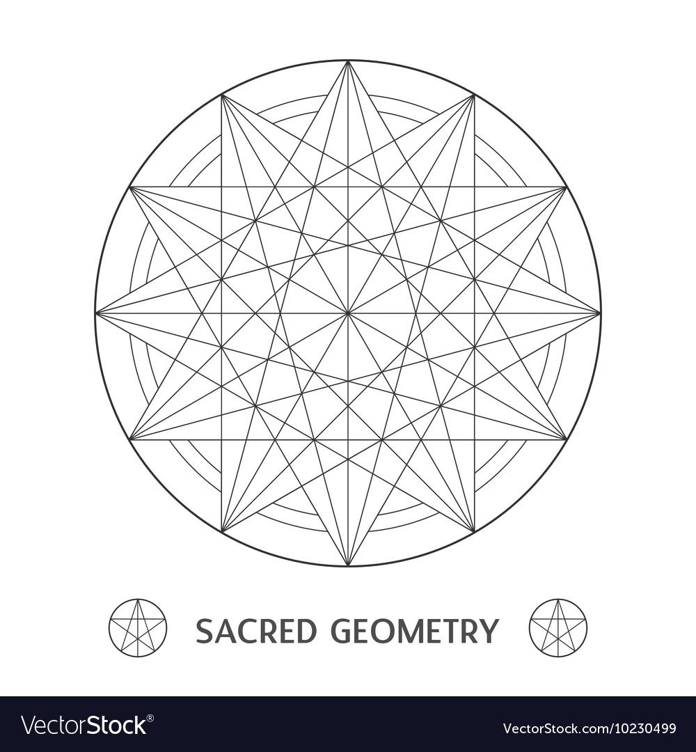 Sacred geometry symbol Stock