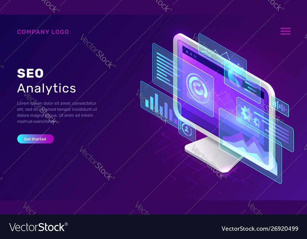 Seo search engine optimization analytics concept