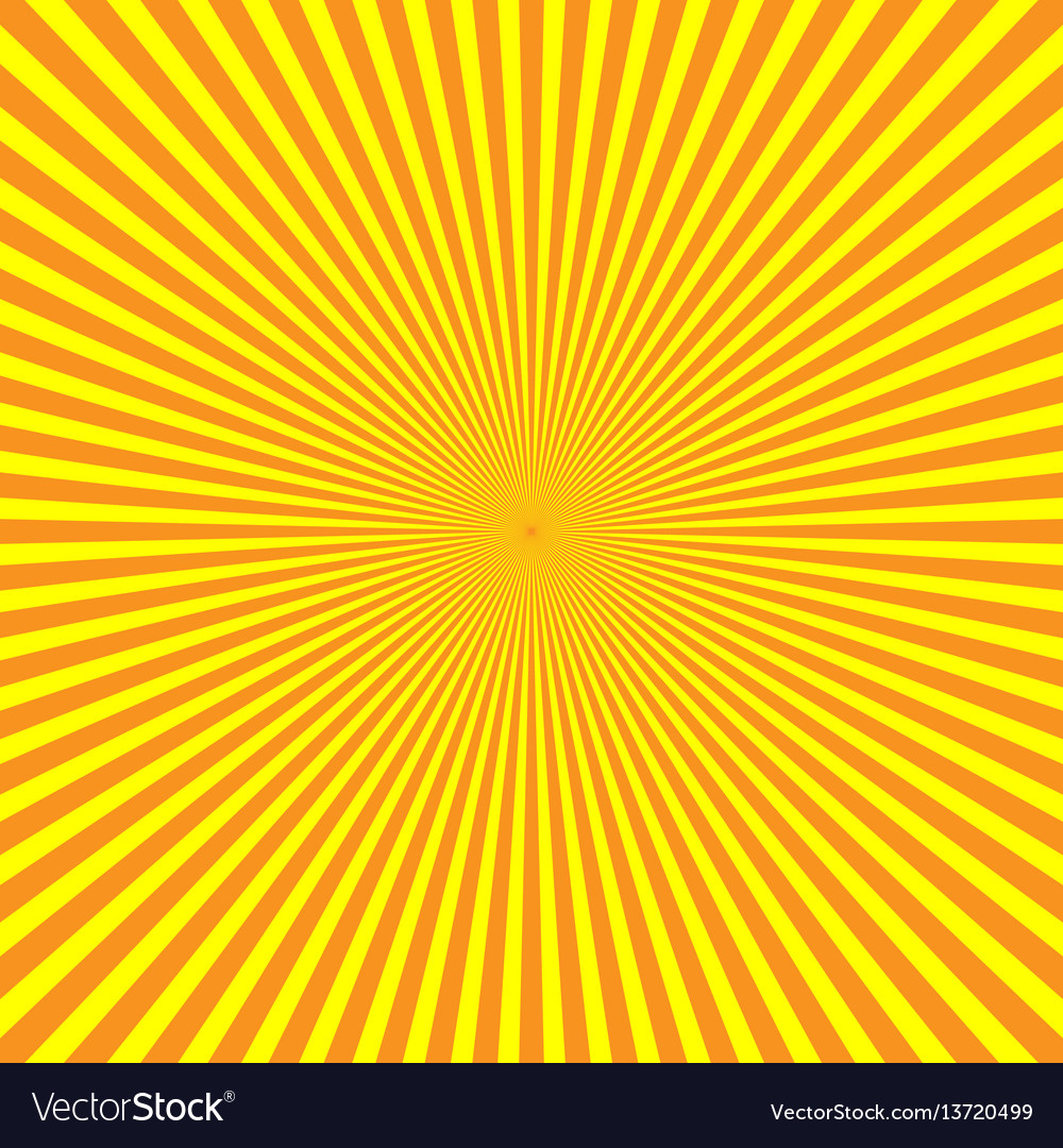 Yellow-orange rays of light in radial arrangement