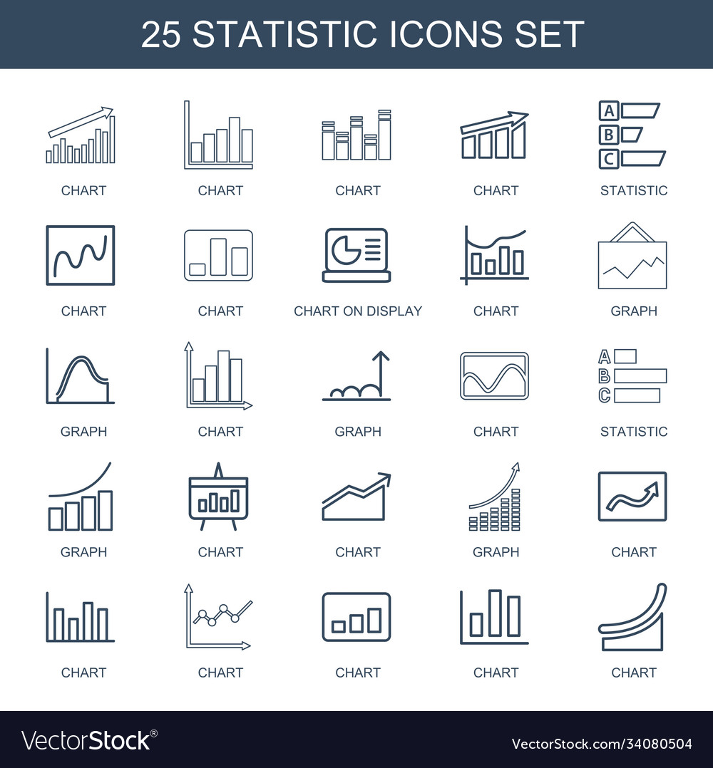 25 statistic icons