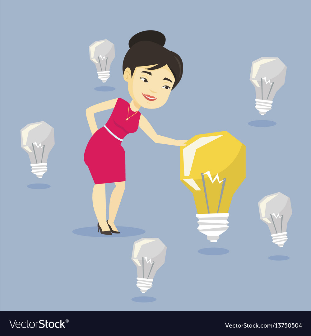 Asian businesswoman having business idea