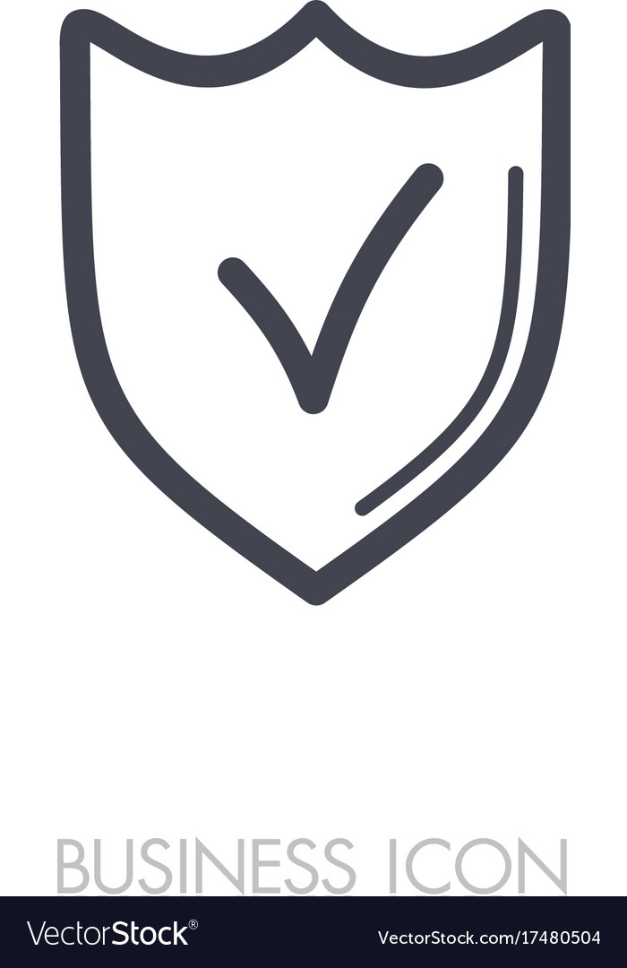 Best protection shield outline icon vectorimage